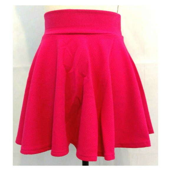 A & O Dresses & Skirts - Skirt M 7-8 Mini Skater Circle Flare Fuscia Pink